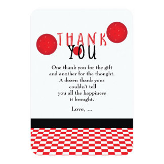 Pizza Party Birthday Pepperoni Thank You Card
