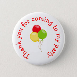 Pizza Party Birthday 'Thank you for coming' 2 Inch Round Button