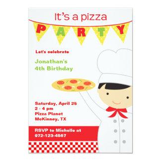 Pizza Party Boy Invitations
