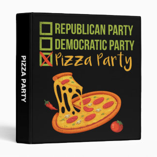 Pizza Party - Funny Novelty Voting Political 3 Ring Binders