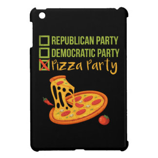 Pizza Party - Funny Novelty Voting Political iPad Mini Cover