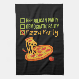 Pizza Party - Funny Novelty Voting Political Kitchen Towel