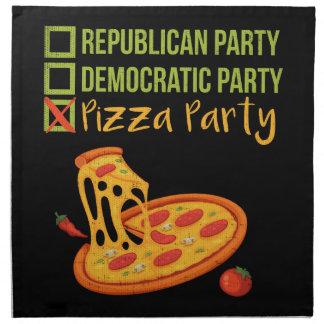 Pizza Party - Funny Novelty Voting Political Napkin