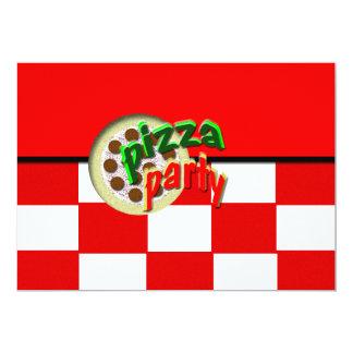 "Pizza Party 5"" X 7"" Invitation Card"