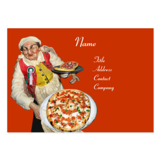 PIZZA PARTY ITALIAN KITCHEN,PIZZERIA ,black orange Pack Of Chubby Business Cards