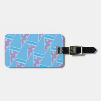 Pizza Party Pattern Luggage Tag