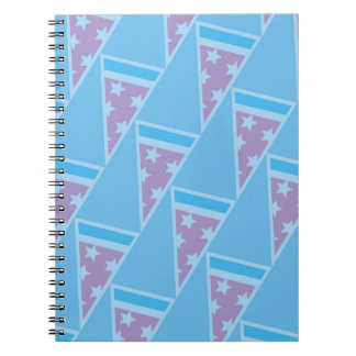 Pizza Party Pattern Spiral Notebook