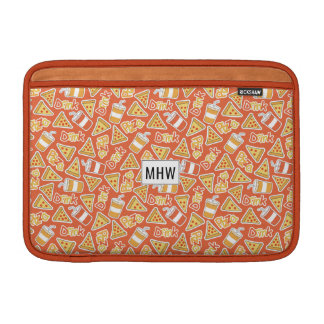Pizza Pattern custom monogram Macbook sleeves
