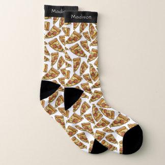Pizza Pattern custom name socks