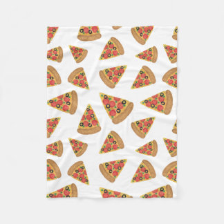 Pizza Pattern Fleece Blanket