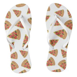 Pizza Pattern Flip Flops