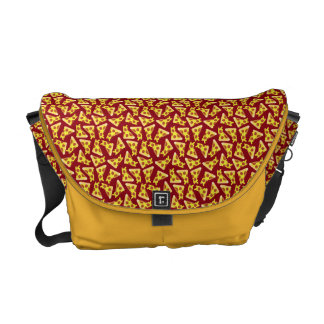Pizza Pattern Messenger Bag