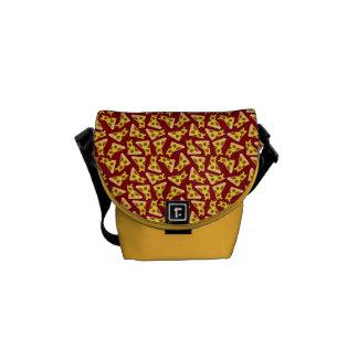 Pizza Pattern Messenger Bags