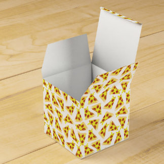 Pizza Pattern Party Favor Box