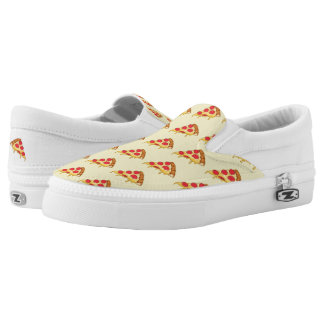 Pizza Pattern Slip-On Sneakers