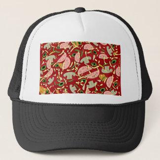 Pizza pattern trucker hat