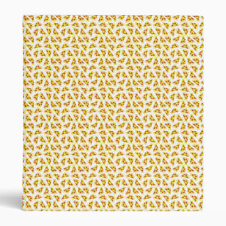 Pizza Pattern Vinyl Binder