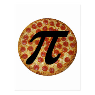 Pizza PI Postcard