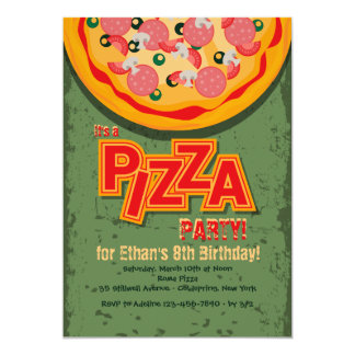 Pizza Pie Invitation