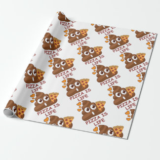 Pizza Poop Emoji Wrapping Paper