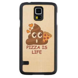 Pizza Poop Life Carved Maple Galaxy S5 Case