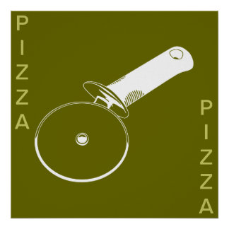 PIZZA poster(Olive and White w/ words or without)