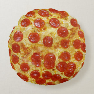 Pizza Print Round Pillow