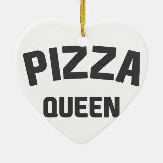 Pizza Queen Ceramic Ornament