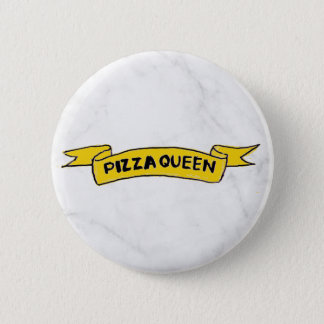 'Pizza Queen' Marble, Badge 2 Inch Round Button