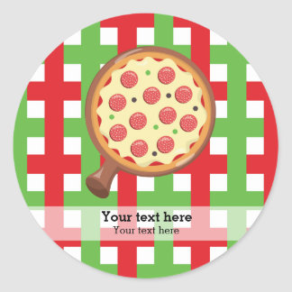 Pizza restaurant classic round sticker