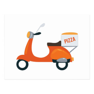 Pizza Scooter Postcard