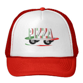 Pizza service hats