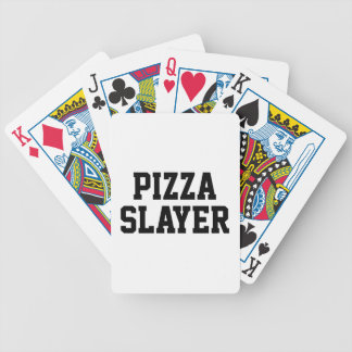 Pizza Slayer Bicycle Playing Cards