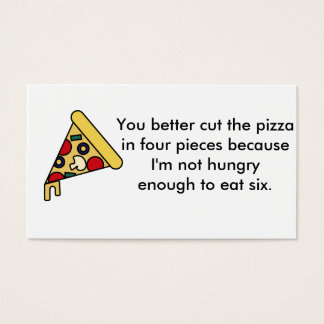 Pizza Slice Business Card