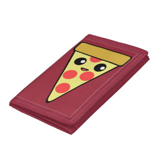 Pizza Slice Character Trifold Wallet