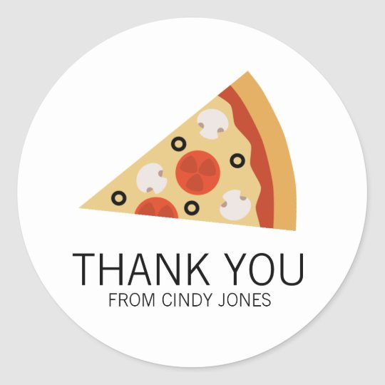 Pizza Slice Classic Round Sticker