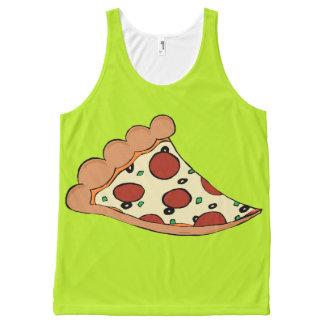 Pizza slice design tank top