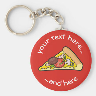 Pizza slice keychain