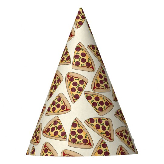 Pizza slice paper party hat