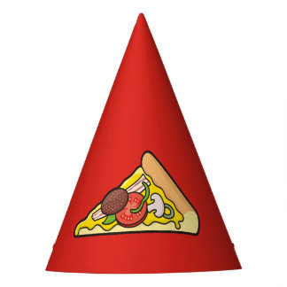 Pizza slice party hat