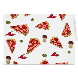 Pizza slice pattern card