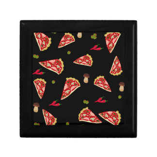 Pizza slice pattern gift box
