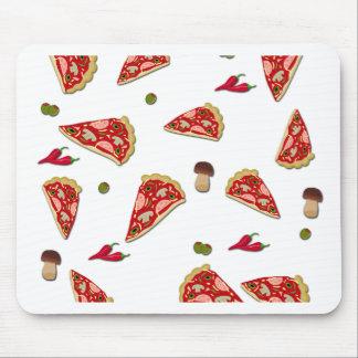 Pizza slice pattern mouse pad