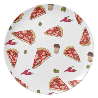 Pizza slice pattern plate