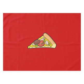 Pizza slice tablecloth