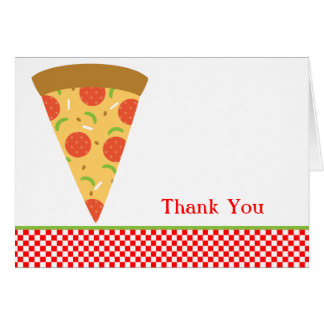 Pizza Slice Thank You Card