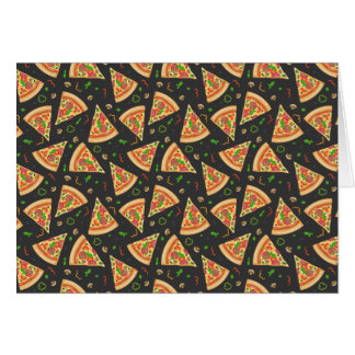 Pizza slices background card