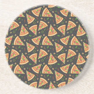 Pizza slices background coaster