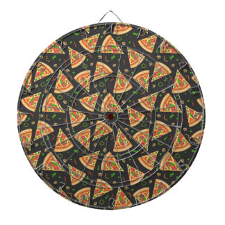 Pizza slices background dartboard
