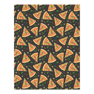 Pizza slices background letterhead